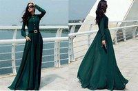Wholesale S New Womens Long Sleeve Chiffon Evening Club Gown Prom Maxi Dress wedding dress