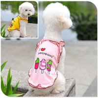 Wholesale I Love Icecream Ice Cream Lace Unlined Upper Garment Pet Dog Dress Pet Products