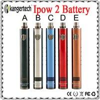 Wholesale 100 Original Kanger Ipow Battery mAh Variable Wattage Battery Kanger Ipow E Cig Vaporizer Pen With OLED Display