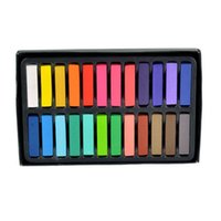 Wholesale 24 Colors Fashion Non toxic Temporary Hair Chalk Dye Soft Pastels Salon Pastel DIY mix color