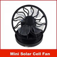 solar fan cap - Mini Solar Cell Fan Sun Power energy Clip on Cooling Promotion Applicable to the cap
