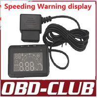 bentley speed - 2015 LED Car HUD Head Up Display With OBD2 Interface Plug Play car Speeding Warn System lcd W01