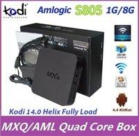 smart tv - 10pcs Quad Core MXQ Android Media Player Smart TV Box Amlogic S805 MXQ IPTV With XBMC Kodi Fully Load Stream Movies Sports Rooted