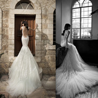Cheap Trumpet/Mermaid Backless Wedding Dresses Best Reference Images Spaghetti Vintage Wedding dresses