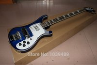 left handed bass guitar - The new style bass sky blue electric bass guitar musical instrument stock