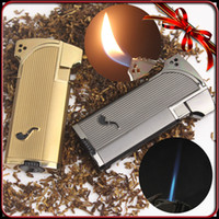 Wholesale Jobon Windproof Metal Jet Double Flame Cigarette Cigar Smoking Pipe Butane Gas Lighter