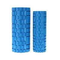 Wholesale 2Pcs EVA Yoga Gym Pilates Fitness Exercise Foam Rollers Massage Set Trigger Point Therapy Exercise Physio Blue
