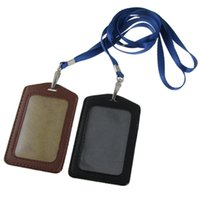 badge marketing - Hot Marketing Amico Faux Leather Business ID Badge Card Vertical Holders Black Brown June24