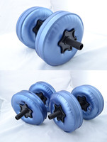 Wholesale New Creation hand weights dumbbells Water Poured Dumbbell By DHL pairs