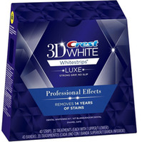Wholesale Original1Box Strips Pouches Crest D White LUXE Professional Effects dental Crest Whitestrips oral hygiene teeth whitening