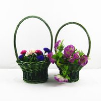 willow basket - 2015 Wedding Flower Basket Fast Delivery Bridal Accessories Portable Basket Hand Basket Handmade BY willow twig