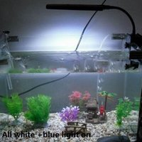 Wholesale Aquariums Decoration Aquarium Fish Tank LEDs Clip Light Lighting Lamp Touch Switch Modes White Blue Color Flexible V