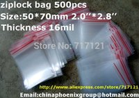bag jewelry hardware - 500PCS quot x2 _50 x70mm thickness mil Jewelry Ziplock Zip Zipped Lock Reclosable Plastic Poly Clear Bags hardware