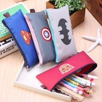 Others Others Others Wholesale-Creative Batman,Superman,Transformers,Captain America pencil Bag fashion Canvas Pencil Case Stationery office school supplies