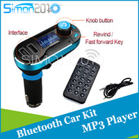 Wholesale Wireless T66 MP3 Player bluetooth version Car Kit FM Transmitter With Car Audio Remote Control LCD Display with AUX play