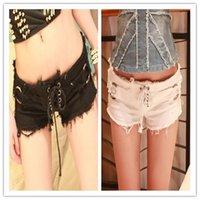 Cheap New Summer 2015 For Women Korean Female Tide Summer Denim Shorts Jeans Low Waist Shorts Jeans Ripped Hole shorts women