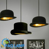 aluminum art styles - Modern Style chandeliers lamp Jeeves Wooster Top Hat Pendant Dome cap LED lamp copy aluminum or Original fluff