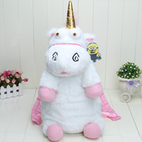 Wholesale Despicable Me Fluffy Unicorn Plush Backpack Large cm New Back Pack Doll Toys Bag