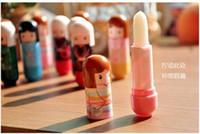 Wholesale New Lovely Lip Balm Lipstick Cute Cartoon Lip Balm Kimono Doll Flavor Lip Balm Nourishing Moisturizing DHL Free