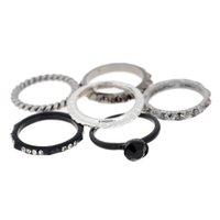 Wholesale 6pcs set2015 Women New Punk Rock Retro Style Midi Finger Rings Set Fashion Party Jewelry Women Rings