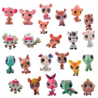 Wholesale LPS Toys Littlest Pets Shop Q Pets Mini Pet Animation Decoration Doll Animals Figures Cute Plastic Toys