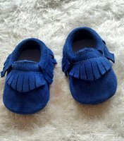 Wholesale Genuine Suede Leather Newborn Baby First Walkers Moccasins Soft Moccs Shoes Infant Toddler Child Children Shoes Colors Size