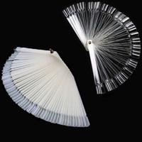 Wholesale New tips Fan Shaped Nail Art Display Natural Chart for Polish Gel Display Tool DHL