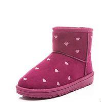 Wholesale Super Tall Heels - Women Winter Boots Super Warm Plush Flock Shoes Classic tall warm winter Women's short snow boots Brand new Ladies shoes 101506
