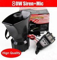 Wholesale 80W Car Horn Siren PA System V Loud Megaphone Mic Motorcyle RV Truck