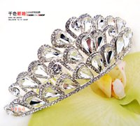 bling jewelry - Hair Jewelry Crown New Cheap Bridal Necklace For Evening Prom Accessories Sparkly Diamonds Bling Crystals Necklace Wedding Hot