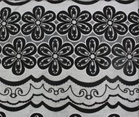 Wholesale Lace fabric clothing fabric lace fabric quot Blue black yellow colour flower lace fabrics