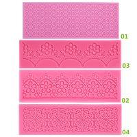 sugar flowers - New Arrivals Fondant Cake Tools Lace Sugar Craft Flower Decorating Mold Silicone Patterns JA4