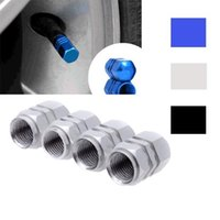 Wholesale Universal Auto Bicycle Car Tire Valve Caps Tyre Wheel Hexagonal Ventile Air Stems Cover Airtight rims Accessories A2