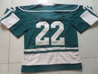 hockey jersey - 2015 New Hockey Jerseys Jersey Green Red White Color size Mix Order Stitched