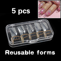 Wholesale Cu3 New Nail Forms UV Gel Tool Acrylic French Tips Reusable Art