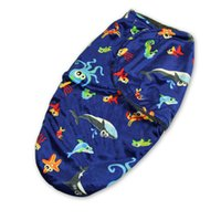 Wholesale 50x32cm baby sharks sleeping newborn winter coat thick double cheap cartoon blankets month quilt factory direct AL