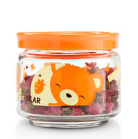 glass canister set - 5 Pc Set mason jars glass jars and lids tea canister cookie jar ml ml ml