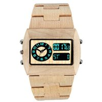 Wholesale Brand New Purely Handmade Wood Watch High Quality Electronic and PC21S Movement Auto Date Wooden Wristwatch Free Drop Shipping