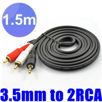 Wholesale 200pcs Ft m Stereo Audio mm Male Jack to AV RCA Audio Cable mm to RCA