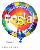 balloon fiesta - 50 quot inch Round shape Helium balloons birthday Wedding party decorations Inflatable toys gifts for kids print quot Fiesta quot