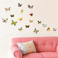beautiful butterfly wallpapers - 1pcs Beautiful Butterfly Fluorescent Night Glow Wall Sticker Wallpaper Window Living Room Wall Decals Home Decoration Removable