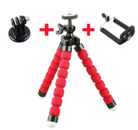 Wholesale 3 In One Mini Flexible Octopus Tripod Phone Holder Bracket Holders Stand for Gopro Hero SJ4000 for iPhone Cellphone