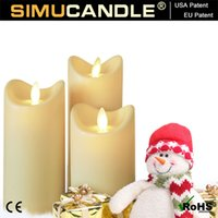 Wholesale Moving flame Candle with timer function for Christmas gift