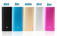 Wholesale Original Xiaomi Power Bank Powerbank Smartphone Charger mAh Battery For Android Phones USB Portable Epacket TNT Post