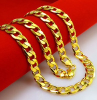 24k gold necklace chain - 60CM plated K gold men necklace Widening bold buckle chain wheel tanks chain Popular Jewelry Christmas gifts W