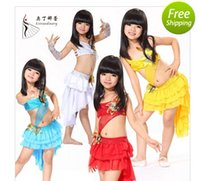 armlets - 2015 Latin Dance Dresses Paso Doble Children Top Skirt Armlets Samba Salsa Dress Belly Dance Costumes Clothes Children