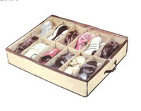 Wholesale 100pcs New Cheap Pair Cloth Fabric Shoes Storage Organizer Holder Shoe Organiser Box Closet Tidy