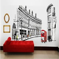 architectural wall decals - The streets of Rome Wall Sticker Architectural style Decorative Sitting Room TV PVC Wall decals