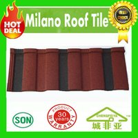 Wholesale building material high quality hot sale milano type stone coated metal roof tile