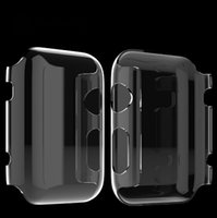Wholesale Multi colors TPU Protective Case Shell For Apple Watch Sport Edition Transparent Crystal Cover Skin For iPhone Smart Watch Free DHL